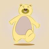 Caractère heureux d'amusement de bande dessinée d'ours Photo libre de droits