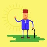Caractère heureux Illustration de vecteur dans un style plat Images libres de droits
