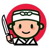 Caractère japonais mignon de chef images stock