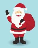 Caractère le Père noël de Noël Photos stock