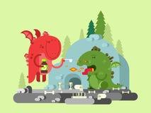 Caractère malade de dragon Photo libre de droits
