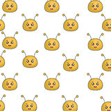Caractère mignon de kawaii d'abeille Images stock