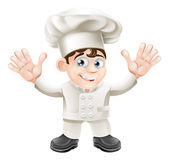 Caractère mignon de mascotte de chef Photo stock