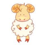 Caractère mignon de moutons de symbole chinois de nouvelle année