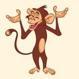 Caractère mignon de singe de bande dessinée Illustration de vecteur de chimpanzé drôle illustration de vecteur