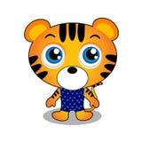 Caractère mignon de tigre Photographie stock