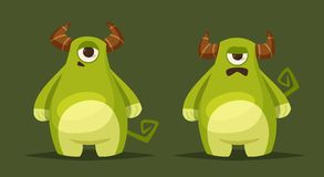Caractère mignon drôle de monstre Illustration de vecteur de dessin animé illustration libre de droits