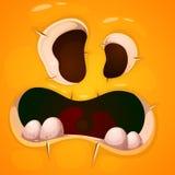 Caractère mignon, drôle, fou de monstre Illustration de Veille de la toussaint Impression sur des T-shirts Photos stock