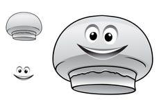 Caractère mignon heureux de champignon de champignon de paris de bande dessinée Photos libres de droits