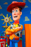 Caractère pixar d'histoire de jouet de Disney boisé images stock