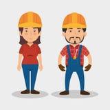 Caractère professionnel d'avatar de construction illustration libre de droits