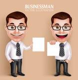 Caractère professionnel de vecteur d'homme d'affaires tenant le livre blanc vide illustration libre de droits