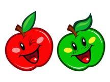 Caractère rouge et vert d'Apple Photos stock