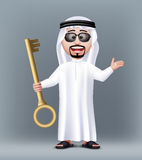 Caractère saoudien beau réaliste de l'homme 3D Image stock
