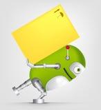 Caractère vert de robot illustration stock