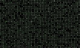 Caractères aléatoires verts sur le moniteur d'ordinateur après le logiciel s photos libres de droits