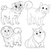 Caractères animaux de griffonnage pour des chiens Image libre de droits