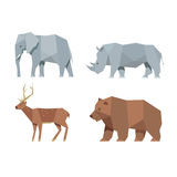 Caractères animaux réglés Photo stock
