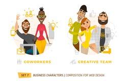 Caractères d'affaires en cercle Photos libres de droits