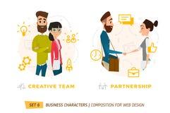 Caractères d'affaires en cercle Image libre de droits