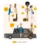 Caractères d'affaires réglés illustration de vecteur