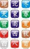 Caractères d'heure-milliampère Jongg Illustration Stock