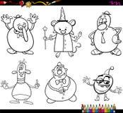 Caractères d'imagination colorant la page Photo libre de droits