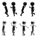 caractères 3D unisexes noirs Photographie stock libre de droits