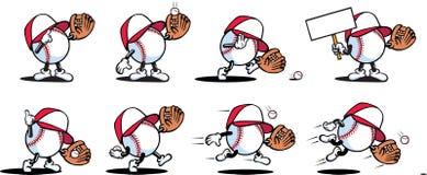 Caractères de base-ball Illustration de Vecteur