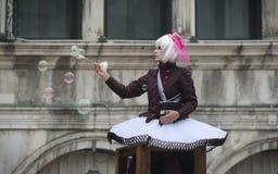 Caractères de carnaval de Venise Image libre de droits