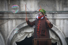 Caractères de carnaval de Venise Images libres de droits