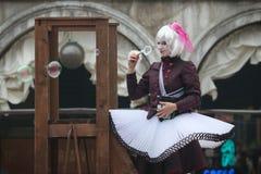 Caractères de carnaval de Venise Photos stock