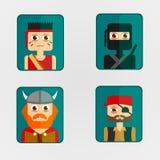 Caractères de combat d'avatar d'icône Photo libre de droits