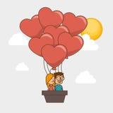 Caractères de couples avec amour de coeur Image libre de droits