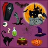 Caractères de Halloween réglés illustration libre de droits