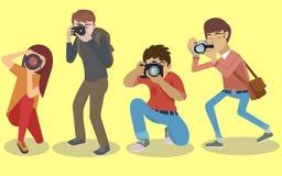 Caractères de photographe réglés Image libre de droits