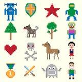 Caractères de pixel de jeu Photographie stock libre de droits