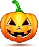 Caractères de potiron drôles, drôles, et fous Émoticônes de bande dessinée de Halloween images libres de droits