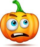 Caractères de potiron drôles, drôles, et fous Émoticônes de bande dessinée de Halloween photos libres de droits