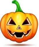 Caractères de potiron drôles, drôles, et fous Émoticônes de bande dessinée de Halloween photographie stock libre de droits