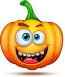 Caractères de potiron drôles, drôles, et fous Émoticônes de bande dessinée de Halloween photographie stock