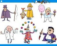 Caractères de professions de personnes de bande dessinée réglés illustration de vecteur