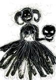 Caractères de vacances de Halloween illustration stock