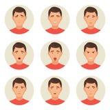 Caractères de visages d'émotions Photographie stock