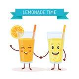 Caractères drôles de limonade Photo libre de droits