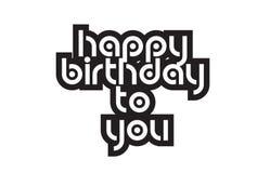 Caractères gras joyeux anniversaire inspirant la typographie des textes de citations Photo libre de droits