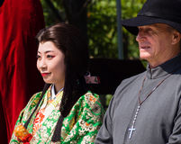 Caractères historiques au festival de Nobunaga à Gifu, Japon Photo libre de droits