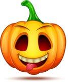 Caractères mignons, drôles, fous de potiron Émoticône de bande dessinée de Halloween photographie stock