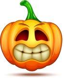 Caractères mignons, drôles, fous de potiron Émoticône de bande dessinée de Halloween photo stock