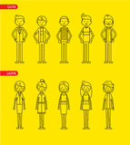 Caractères occasionnels d'ensemble pour l'usage dans la conception Photos libres de droits